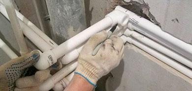 Замена, прокладка труб систем водоснабжения и отопления